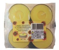 Price's Candles Citronella Maxi Tealights - Pack 4